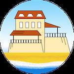 Struttura fronte mare con terrazze